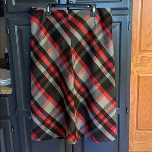 Women's Chadwick's wool plaid long skirt size 14P
